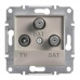 EPH3600169 Розетка TV-SAT-SAT концевая 1 dB Asfora. Цвет Бронза