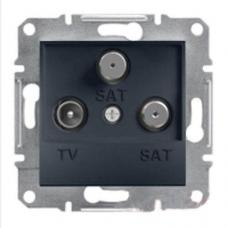 EPH3600171 Розетка TV-SAT-SAT концевая 1 dB Asfora. Цвет Антрацит