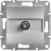 EPH3700161 Розетка SAT концевая 1 dB Asfora. Цвет Алюминий