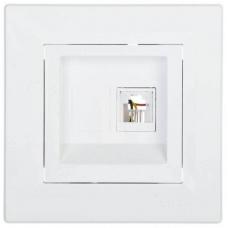 EPH4700121 Розетка компьютерная кат.6 UTP Asfora. Цвет Белый