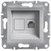 Розетка телефонна RJ11 Asfora. Колір Алюміній, EPH4100161