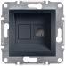 EPH4100171 Розетка телефонная RJ11 Asfora. Цвет Антрацит