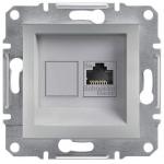 EPH4300161 Розетка компьютерная кат.5e UTP Asfora. Цвет Алюминий