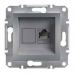 EPH4300162 Розетка компьютерная кат.5е UTP Asfora. Цвет Сталь