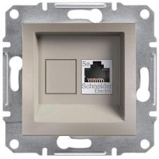 EPH4300169 Розетка компьютерная кат.5е UTP Asfora. Цвет Бронза