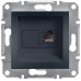 EPH4300171 Розетка компьютерная кат.5е UTP Asfora. Цвет Антрацит