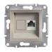 EPH4700169 Розетка компьютерная кат.6 UTP Asfora. Цвет Бронза