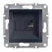 EPH4700171 Розетка компьютерная кат.6 UTP Asfora. Цвет Антрацит