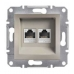 EPH4800169 Розетка компьютерная кат.6 UTP Asfora. Цвет Бронза