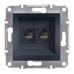 EPH4800171 Розетка компьютерная кат.6 UTP Asfora. Цвет Антрацит