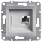 EPH5000161 Розетка компьютерная экранированная кат.5е STP Asfora. Цвет Алюминий