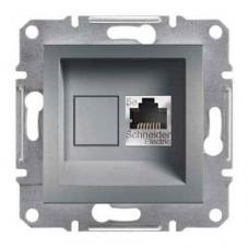 EPH5000162 Розетка компьютерная экранированная кат.5е STP Asfora. Цвет Сталь
