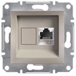 EPH5000169 Розетка компьютерная экранированная кат.5е STP Asfora. Цвет Бронза
