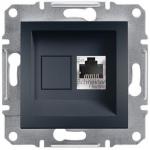 EPH5000171 Розетка компьютерная экранированная кат.5е STP Asfora. Цвет Антрацит