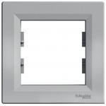 EPH5800161 Рамка 1-местная горизонтальная Asfora. Цвет Алюминий