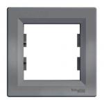 EPH5800162 Рамка 1-местная горизонтальная Asfora. Цвет Сталь