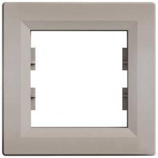 EPH5800169 Рамка 1-местная горизонтальная Asfora. Цвет Бронза