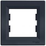 EPH5800171 Рамка 1-местная горизонтальная Asfora. Цвет Антрацит