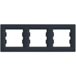 EPH5800371 Рамка 3-местная горизонтальная Asfora. Цвет Антрацит