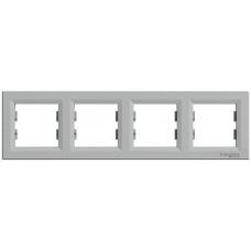 EPH5800461 Рамка 4-местная горизонтальная Asfora. Цвет Алюминий