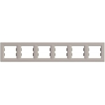 EPH5800669 Рамка 6-местная горизонтальная Asfora. Цвет Бронза