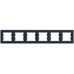 EPH5800671 Рамка 6-местная горизонтальная Asfora. Цвет Антрацит