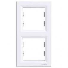 EPH5810221 Рамка 2-местная вертикальная Asfora. Цвет Белый