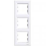 EPH5810321 Рамка 3-местная вертикальная Asfora. Цвет Белый