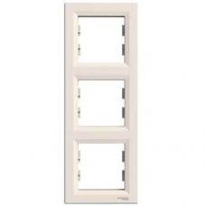 EPH5810323 Рамка 3-местная вертикальная Asfora. Цвет Кремовый