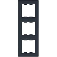 EPH5810371 Рамка 3-местная вертикальная Asfora. Цвет Антрацит