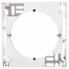 EPH6100121 Подрозетник одноместный Asfora. Цвет Белый