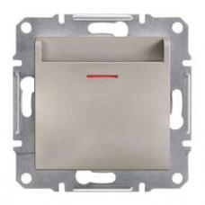 EPH6200169 Карточный выключатель Asfora IP20. Цвет Бронза