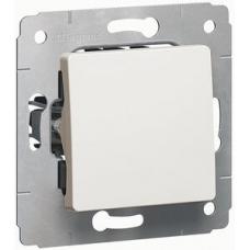 773601 Одноклавішний вимикач Cariva IP20. Колір білий