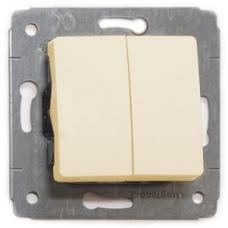 773705 Двоклавішний вимикач Legrand Cariva 10 А, IP20. Колір Слонова кістка