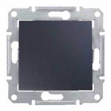Одноклавишный выключатель 10 A серии Sedna. Цвет Графит (SDN0100170)