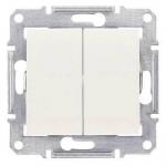SDN0300423 Двухклавишный выключатель 10A IP44 серии Sedna. Цвет Слоновая кость