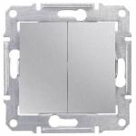 SDN0600160 2-клавишный переключатель 10 A серии Sedna. Цвет Алюминий