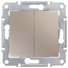 SDN0300168 2-клавишный выключатель 10 A серии Sedna. Цвет Титан