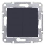 SDN0600170 2-клавишный переключатель 10 A серии Sedna. Цвет Графит