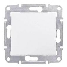 Кнопочный выключатель 10A серии Sedna. Цвет Белый (SDN0700121)