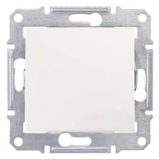 Кнопочный выключатель 10A серии Sedna. Цвет Слоновая кость (SDN0700123)