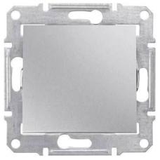 Кнопочный выключатель 10A серии Sedna. Цвет Алюминий (SDN0700160)