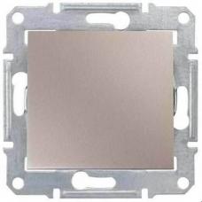 Кнопочный выключатель 10A серии Sedna. Цвет Титан (SDN0700168)
