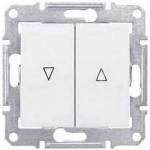 SDN1300321 Выключатель для жалюзи с механич. блокировкой 10A серии Sedna. Цвет Белый