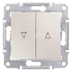 SDN1300323 Выключатель для жалюзи с механич. блокировкой 10A серии Sedna. Цвет Слоновая кость
