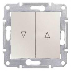 Выключатель для жалюзи с механич. блокировкой 10A серии Sedna. Цвет Слоновая кость (SDN1300323)