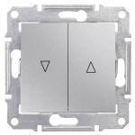 SDN1300360 Выключатель для жалюзи с механич. блокировкой 10A серии Sedna. Цвет Алюминий