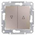 SDN1300368 Выключатель для жалюзи с механич. блокировкой 10A серии Sedna. Цвет Титан