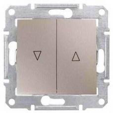 Выключатель для жалюзи с механич. блокировкой 10A серии Sedna. Цвет Титан (SDN1300368)