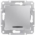 SDN0400360 Одноклавишный выключатель с индикацией 10A серии Sedna. Цвет Алюминий